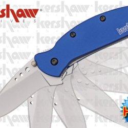 "Ks1620Bl Kershaw Dh5E8Uas Scallion. Speed Safe Blue 8Tiareflp Handles 3 1/2"" Closed Linerlock Folding Knife Edge Sharp Steel Ytkbio Tikos567 Bgf ""Kershaw Scallion. Blue Handles, 3 1/2"""" Closed Linerlock. 420Hc Stainless Blade With Thumb Stud. Features Spe"