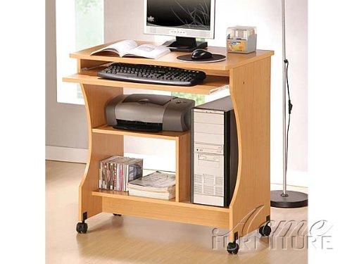 Picture of Comfortable Computer Desk in Maple Finish Acs008016 (B004SZBJGW) (Computer Desks)