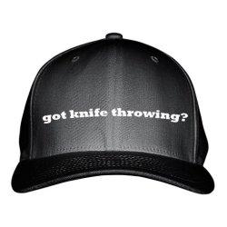 Got Knife Throwing? Sport Embroidered Adjustable Structured Hat Cap Black