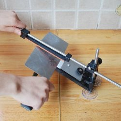 Image® Professional Kitchen Knife Sharpener System Kit Fix-Angle With 4 Stones