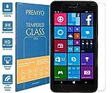 PREMYO vetro temperato Lumia 640 XL. Pellicola vetro temperato Lumia 640 XL con una durezza di 9H e bordi arrotondati da 2,5D. Pellicola in vetro Lumia 640 XL