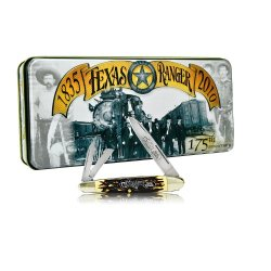 Schrade 9Trt Uncle Henry Texas Rangers 175Th Anniversary Folding Whittler In Collector'S Tin