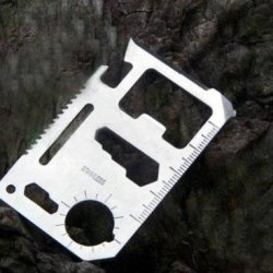 11 Function Outdoor Credit Card Size Survival Pocket Tool
