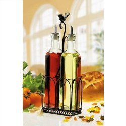 Song Bird Black Iron Oil And Vinegar Service Set