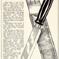 1932 Ad Sheath Knife Deep-River Jim Bowie Boys Tool Sharp Accessory 130 Newberry - Original Print Ad
