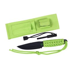 Rothco Paracord Knife - Zombie With Fire Starter, Neon Green