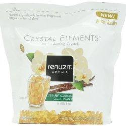 Renuzit Crystal Elements Air Freshening Crystals, Amber Vanilla.