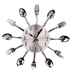Fun Home Cool Cutlery Kitchen Clock (Cutlery Clock)