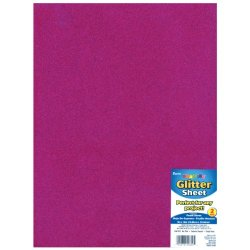 "Glitter Foam Sheet 9""X12"" 2Mm-Hot Pink"