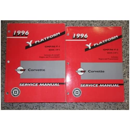 Gm Pb General Corvette Service Shop Repair Manual Set OEM 2 voume set gm Books 500x500