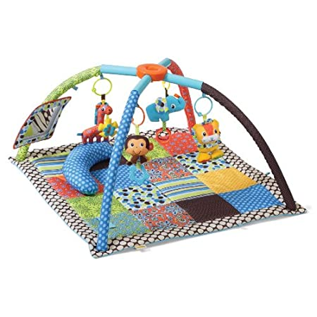 Baby will twist and shout for this new take on a classic design. Our super soft activity gym is filled with fun features and plush play pals. It's the perfect take-along for big adventures or for turning little spaces into big fun!