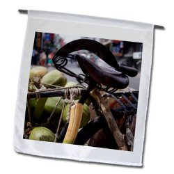 Danita Delimont - David H. Wells - Fruits - A Machete And A Group Of Coconuts Inside A Bicycle In Bangalore, India - 12 X 18 Inch Garden Flag (Fl_187794_1)