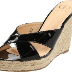 Kelsi Dagger Women'S Bella Sandal, Black Patent, 7.5 M Us