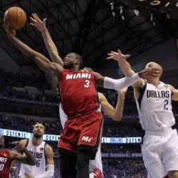 Miami Heat V Dallas Mavericks - Game Three, Dallas, Tx -June 5: Dwyane Wade, Dirk Nowitzki And Jaso Photographic Poster Print By Ronald Martinez, 8X12