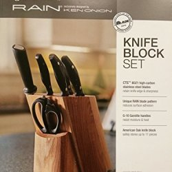 Ken Onion By Chef Works Rain Series 8 Piece Knife Block Set - Mk Exclusive