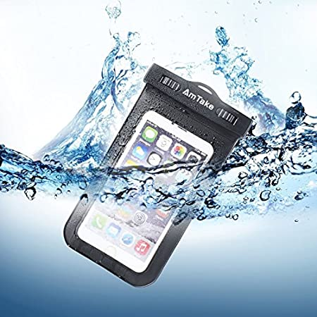 Description:   Amtake Universal Waterproof Case is the perfect accessory for outdoor activities, no matter where you go, such as rafting in the wild waters, hiking in the mountains, skiing/snowboarding, or at any place near water.The large clear wind...
