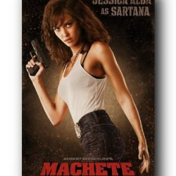 Machete Movie Jessica Alba As Sartana Poster Print