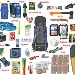 2-Person Emergency Kit Bag / Bug Out Bag / Survival Kit / Earthquake Kit