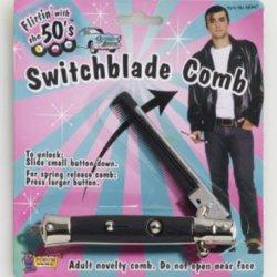 50'S Black Switchblade Comb