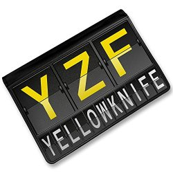 Rfid Passport Holder Yzf Airport Code For Yellowknife, Cover Case / Wallet - Neonblond
