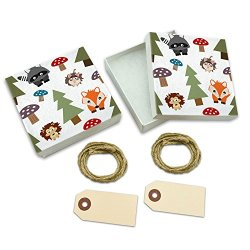 Woodland Animals White Gift Boxes Set Of 2