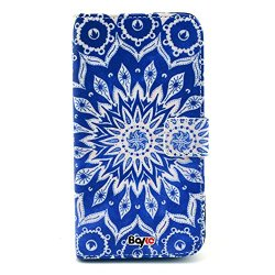 Bayke Brand / Motorola Google Moto G Smart Phone Case Fashion Pu Leather Wallet Flip Protective Skin Case With Stand With Credit Card Slots & Holder For Motorola Google Moto G (Flourish Flowers Pattern Design 02)