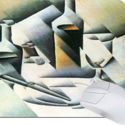 Rikki Knighttm Juan Gris Art Still Life With Bottles And Knives Tanpad Ultra Thin Mouse Pad Ideal For All Laptops, Notebooks, Macbook Air, Macbook Pro