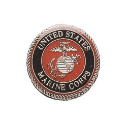 U.S.Marine Corps Military Collar/Lapel Pins/Tie Tac Silver Tone