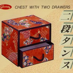 Yuzen Kobako Chest With Two Drawers- Use Chiyogami Origami Paper To Make A Mini Two Drawer Chest!