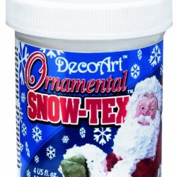 Decoart Das47-4 Ornamental Snow-Tex, 4-Ounce