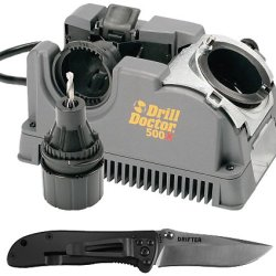 Drill Doctor Dd500X-Kp Crkt Drill Bit Sharpener With Knife