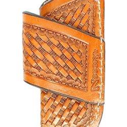 Nocona Men'S Basketweave Leather Horizontal Knife Sheath Natural One Size