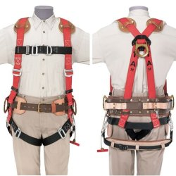 Klein 87963 Fall-Arrest/Positioning Harness For Tower Work, Medium