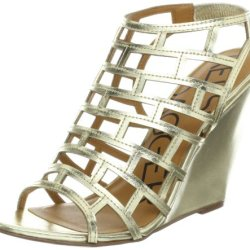 Kelsi Dagger Women'S Eris Wedge Sandal, Gold, 8.5 M Us