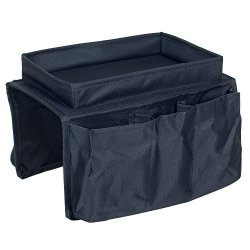 Trademark 6 Pocket Arm Rest Organizer With Table-Top, Black