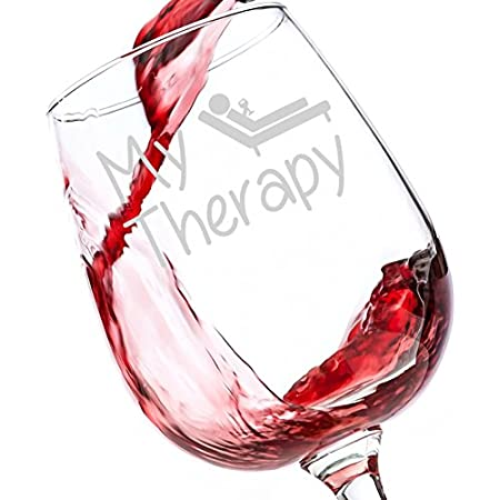 Therapy for All Who said therapy has to be expensive? Grab one of our glasses and kick back with 12.75oz of true relaxation. Let the reviews do the talking. When you take a drink from this wine glass, you'll understand why so many people have gi...