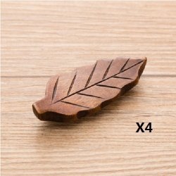 Udtee 4Pcs Creative And Lovely Fish/Leaf/Pillow Etc Shape Wooden Chopstick Rest Spoon Fork Knife Holder