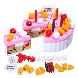 Cellrizon Kids Gift Birthday Party Play Food Set For Kids With Cakes, Cutting Knife,Ice Cream