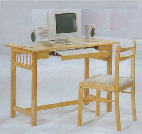 Picture of Comfortable Computer Table With Two Strip Back Side Chair (B0001JTGZA) (Computer Tables)