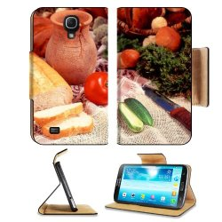 Cucumber Bread Tomato Baked Goods Herbs Knife Samsung Galaxy Mega 6.3 I9200 Flip Case Stand Magnetic Cover Open Ports Customized Made To Order Support Ready Premium Deluxe Pu Leather 7 1/16 Inch (171Mm) X 3 15/16 Inch (95Mm) X 9/16 Inch (14Mm) Liil Mega C
