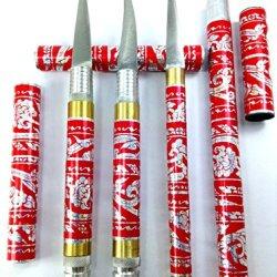 Red 3 Pcs Set Carving Knife Knive Brass Stainless Thai Handmade Vegetable Fruit Soap Lot