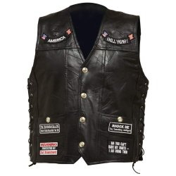 Standout Vests Exclusive Motorcycle Buffalo Leather Vest - Xlg Incomparable