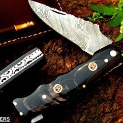 "Dkc-34 Officer 8"" Long 4.5""Folded 5.7 Oz Pocket Folding Damascus Knife Dkc Knives Tmhand Made Incredible Look Feel"