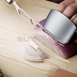 Zjskin New Kitchen Safe Slice Knife Shield Stainless Steel Finger Protector Guard Ring