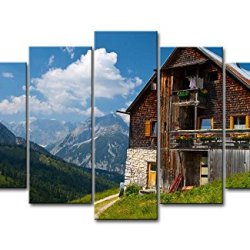5 Piece Wall Art Painting Plumsjochhutte Surround Tree And Mountain Pictures Prints On Canvas City The Picture Decor Oil For Home Modern Decoration Print For Bedroom