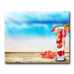 Wall Art Painting Cocktail Mojito Strawberries With Small Umbrella Pictures Prints On Canvas Food The Picture Decor Oil For Home Modern Decoration Print