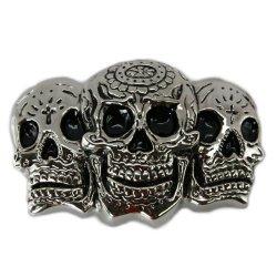 Cool Buckles - 3D Human Skull Skulls Evil Bones Skeleton Belt Buckles