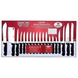 Diamond Cut 19Pc Diamond Cut Cutlery Set