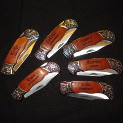 Set Of 6 Personalized Pocket Knives