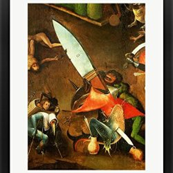 The Last Judgement (Altarpiece): Detail Of The Dagger By Hieronymus Bosch Framed Art Print Wall Picture, Black Frame With Hanging Cleat, 22 X 28 Inches